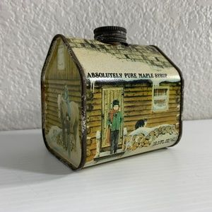 Absolutely Pure Maple Syrup Vermont Tin Vintage
